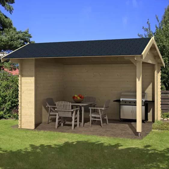 14x13 Ft Garden Log Cabin