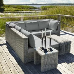 6 Seater Rattan Corner Sofa Set