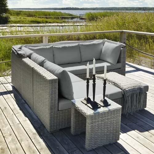 6 Seater Rattan Corner Sofa Set