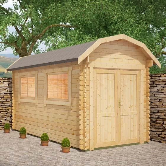Almeria 8x10 Garden Log Cabin