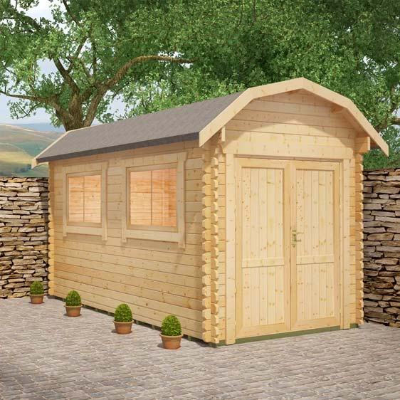 Almeria 8x12 Garden Log Cabin