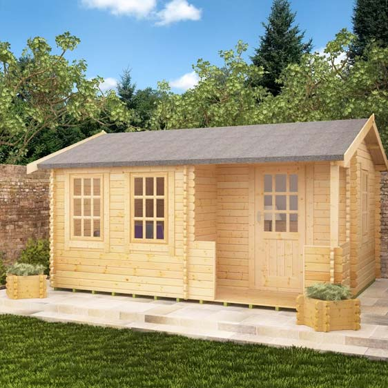 Amur 16x10 Garden Log Cabin