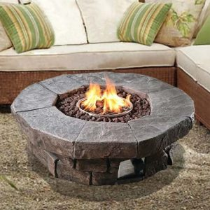 Annabesook Stone Propane Fire Pit