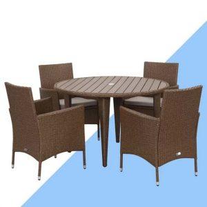 Bjarne 4 Seater Dining Set