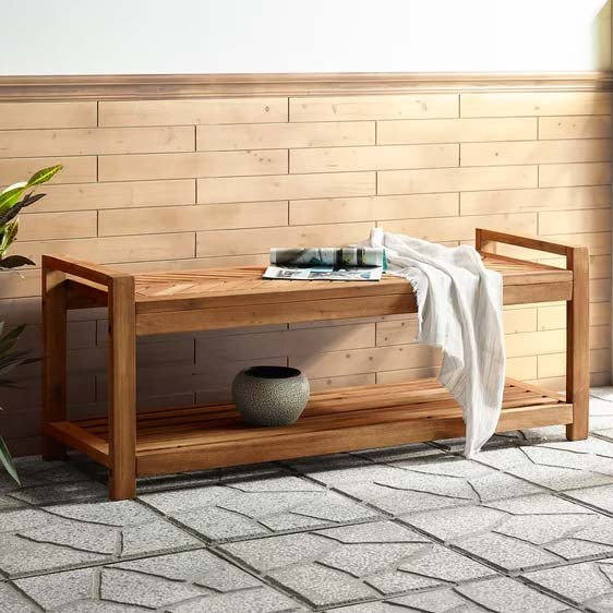 Blalock Wooden Storage Bench