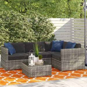 Carolyn 4 Seater Rattan Corner Sofa Set