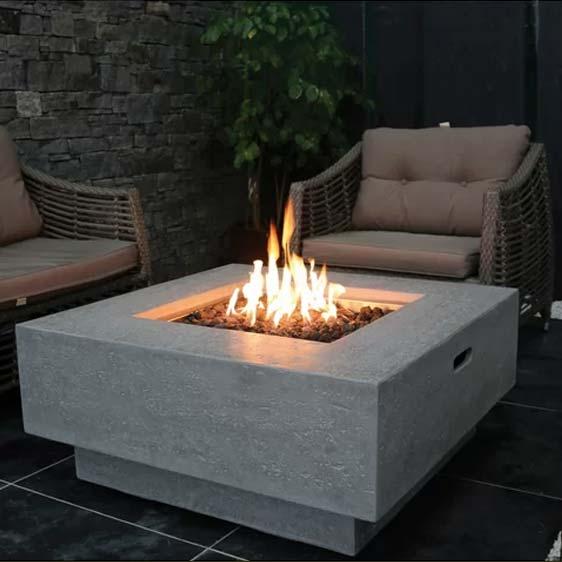Concrete Propane Fire Pit Table
