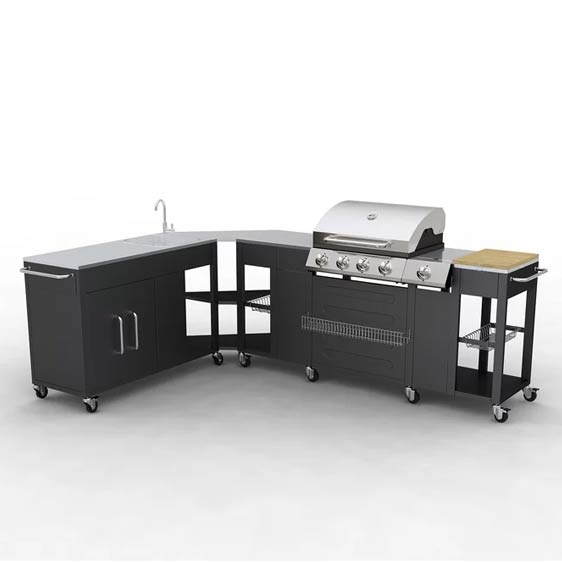 Crowther 5-Burner Barbecue Grill