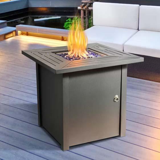 Delaine Gas Fire Pit Table