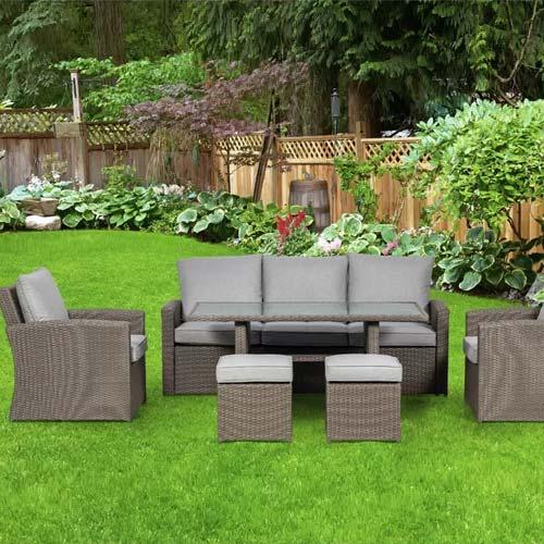 Ethan 7 Seater Rattan Sofa Set