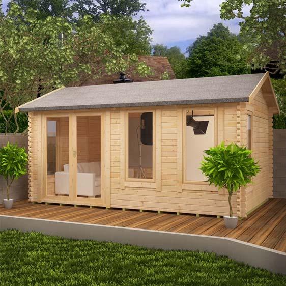 Gamma 16x10 garden log cabin