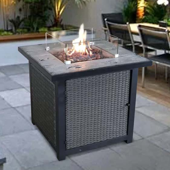 Garfinkel Propane Fire Pit Table Chelsea Garden
