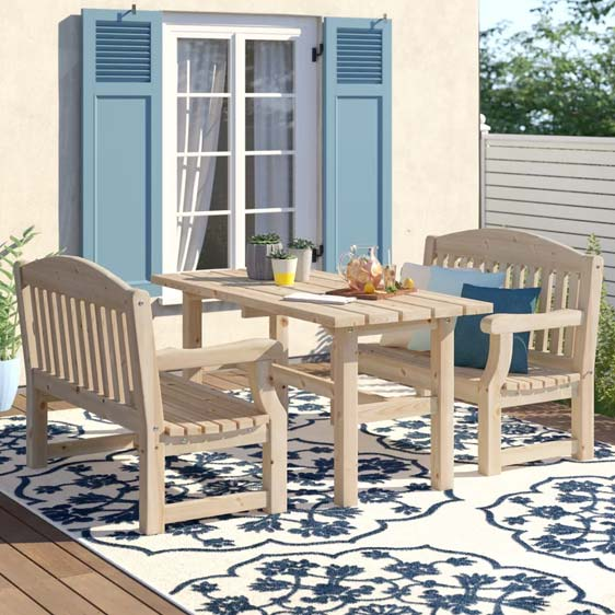Gosnold 4 Seater Dining Set