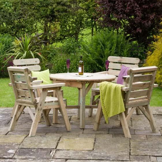 Hampden 4 Seater Dining Set
