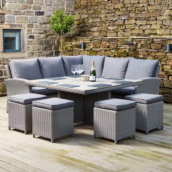 High 8 Seater Rattan Corner Sofa Set