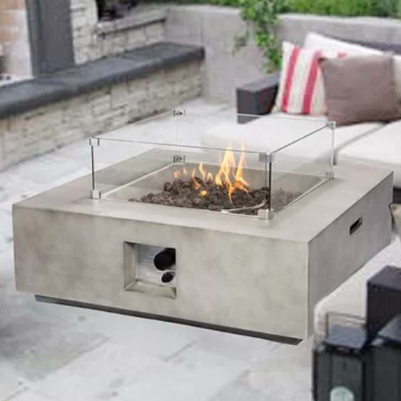 Holman Concrete Propane Fire Pit Table