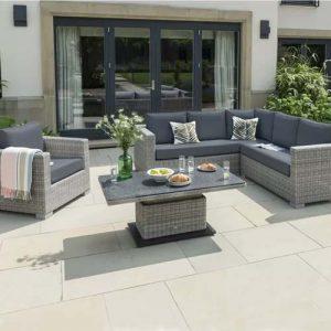 Inwood 6 Seater Rattan Corner Sofa Set