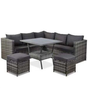 Kamalu 7 Seater Rattan Sofa Set