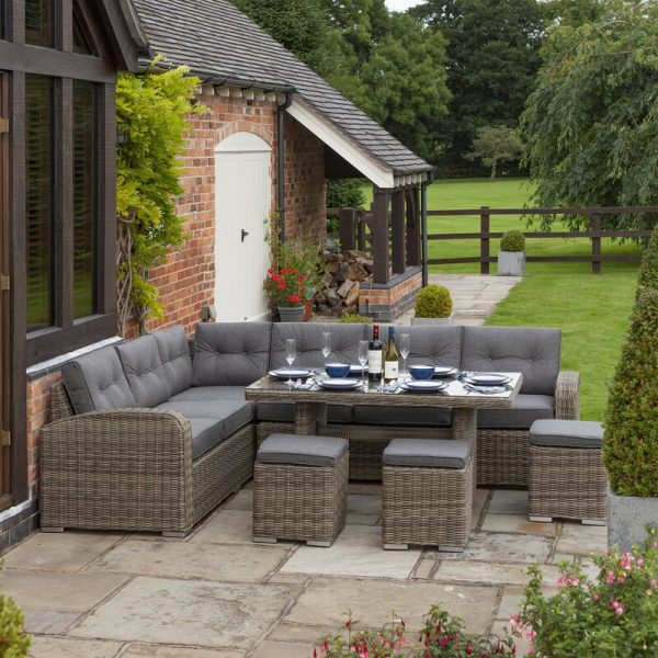 Koret 9 Seater Rattan Corner Sofa Set