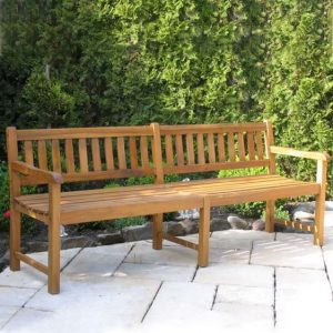 Lakeshore Wooden Bench