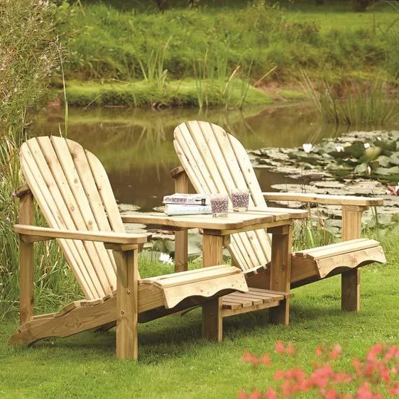Lamborn Wooden Love Seat
