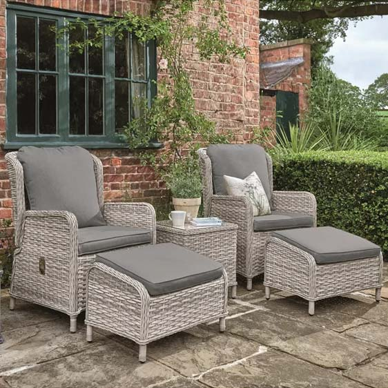 Manraj 2 Seater Rattan Conversation Set