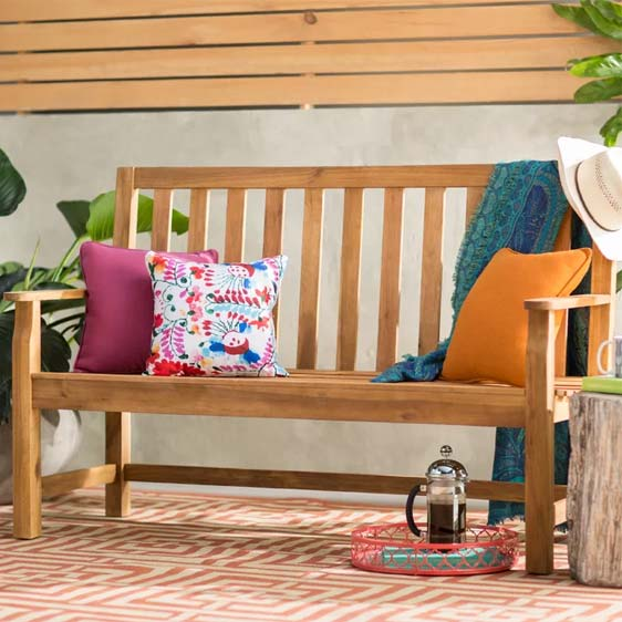 Maxille Wooden Bench