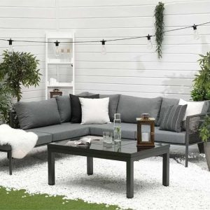 Mayer 6 Seater Corner Sofa Set