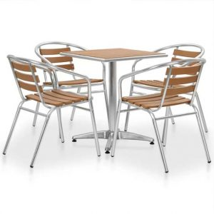 Metal 4 Seater Dining Set