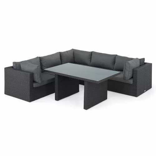 Mulliken 5 Seater Rattan Effect Corner Sofa Set