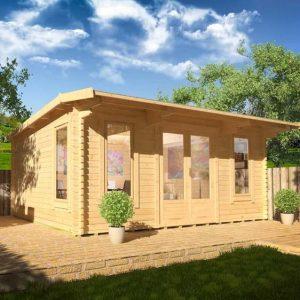 Procas 14x10 Garden Log Cabin