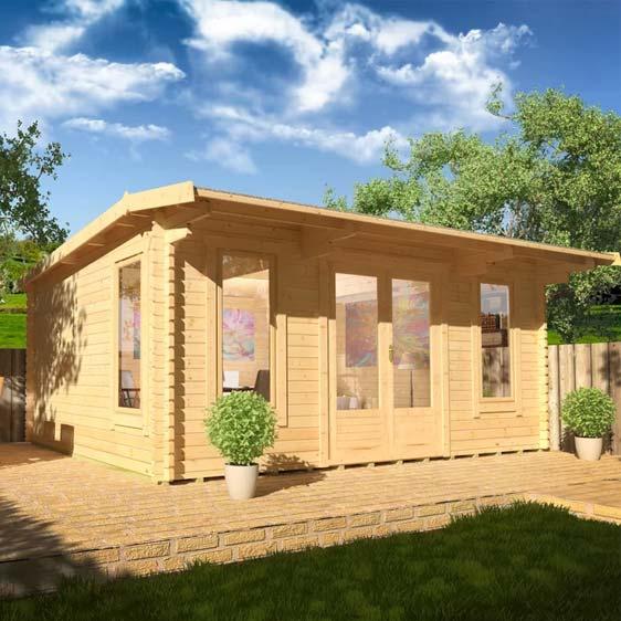 Procas 16x10 Garden Log Cabin