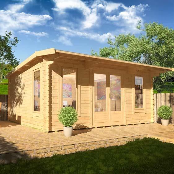 Procas 16x14 Garden Log Cabin