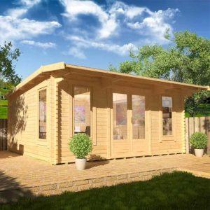 Procas 20x14 Garden Log Cabin