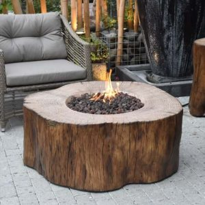 Rodolfo Stump Concrete Fire Pit Table