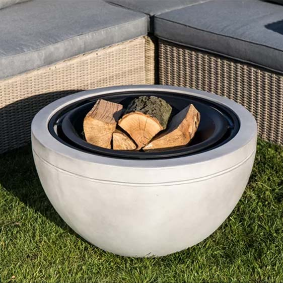 Round Wood Burning Fire Pit