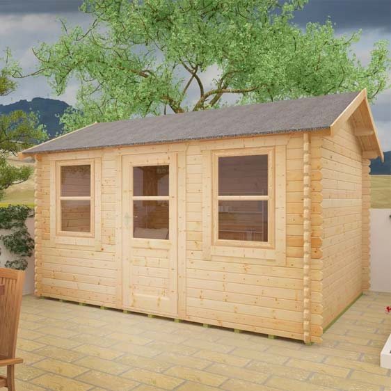Sabre 12x10 Tongue & Groove Log Cabin