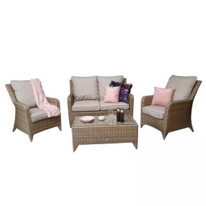 Saskia 4 Seater Rattan Sofa Set