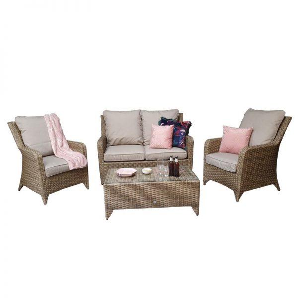 Saskia 4 Seater Rattan Sofa Set