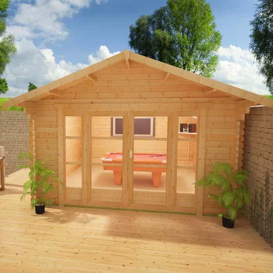 Siberian 12x12 Garden Log Cabin