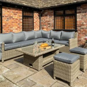 Sudduth 8 Seater Rattan Corner Sofa Set