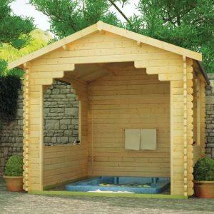 Sumatran 10x10 Garden Log Cabin