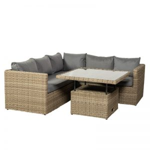 Swindon 5 Seater Rattan Corner Sofa Set