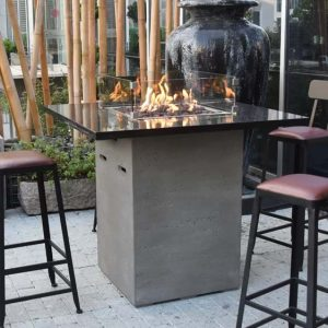 Uriel Concrete Propane Fire Pit Table