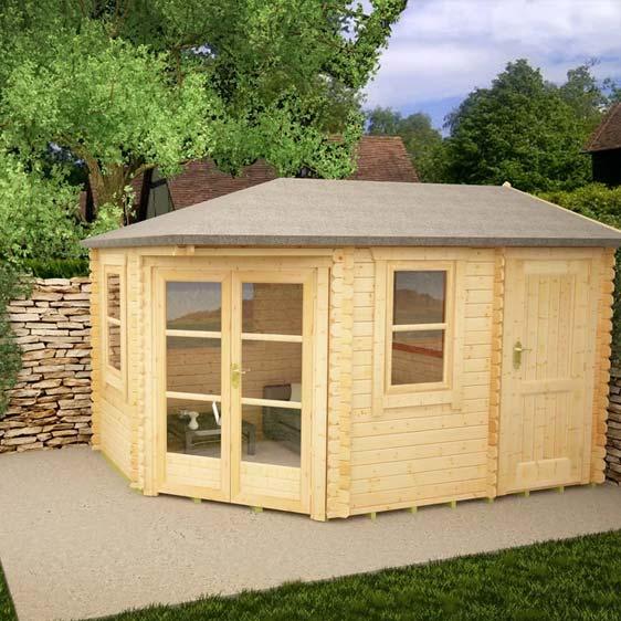 Vibrissa 14x10 Garden Log Cabin